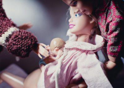Parto en casa Barbie 10