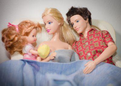 Parto en casa Barbie 11